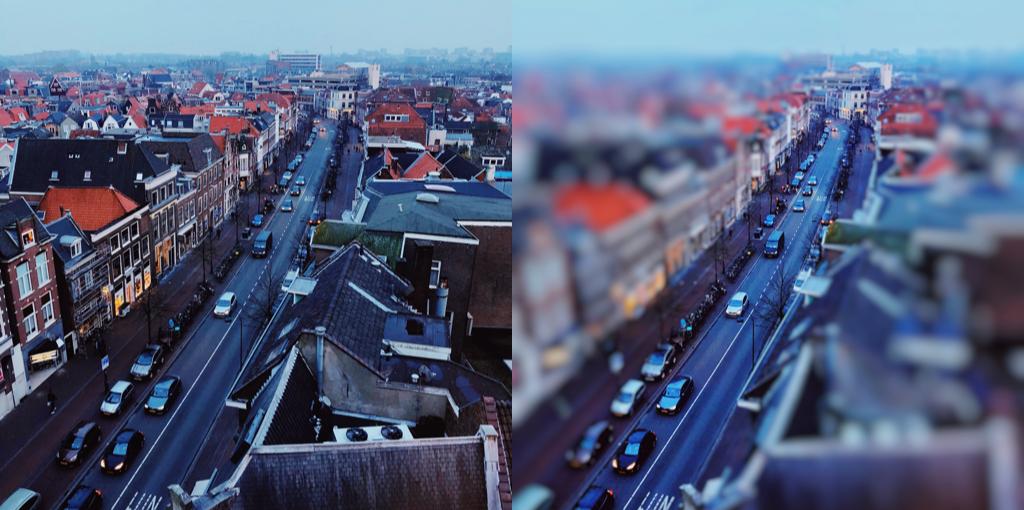 tilt shift foto's met een app