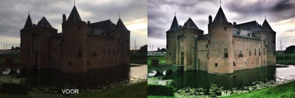 voor en na fotobewerking