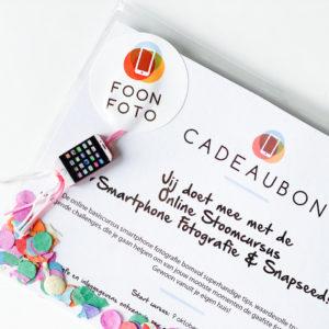 cursus smartphone fotografie cadeau